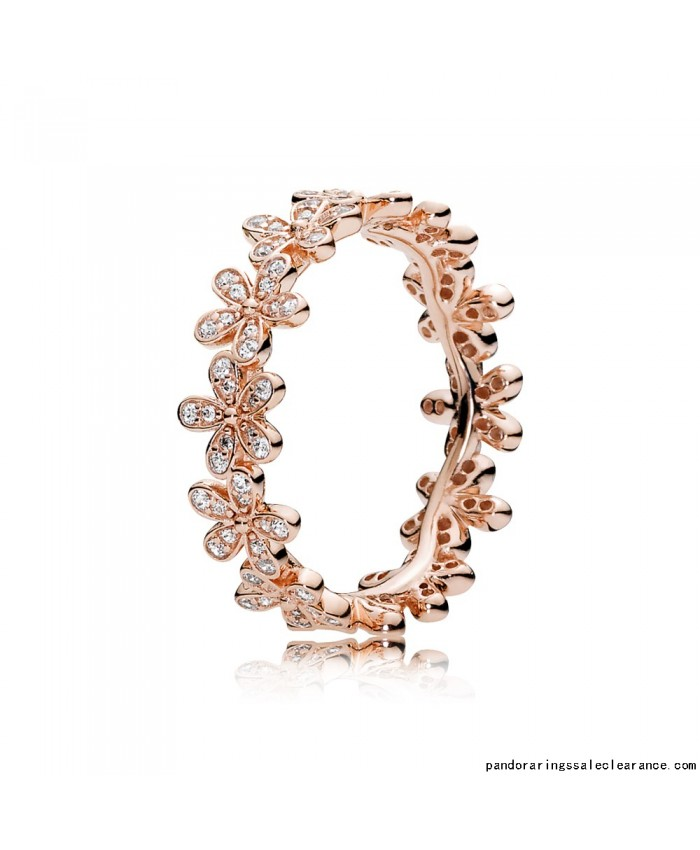 pandora princess ring rose gold