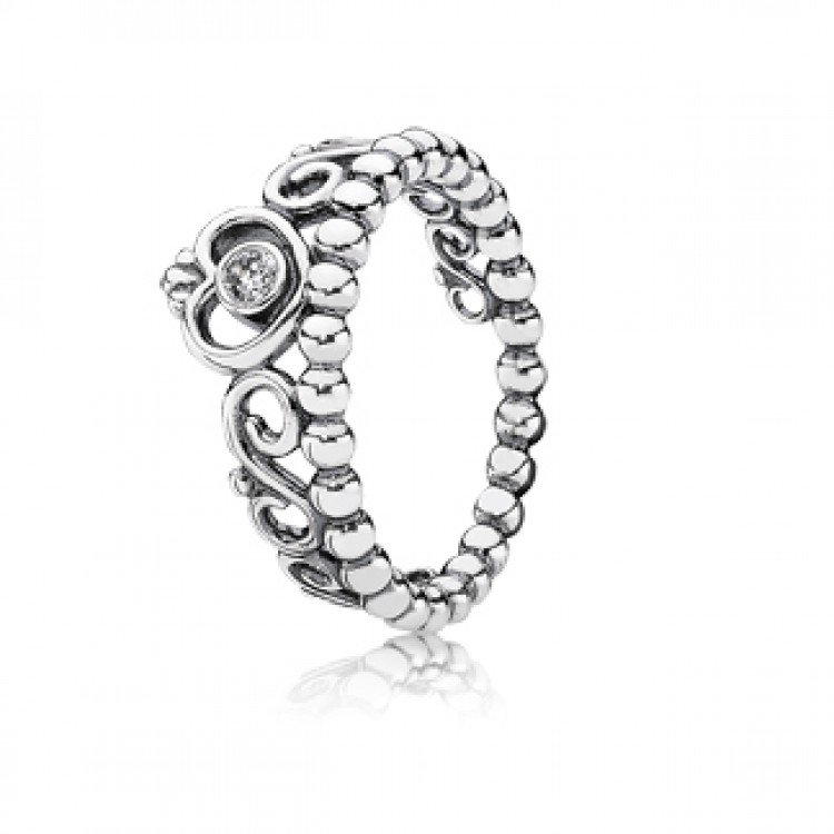 pandora silver princess ring
