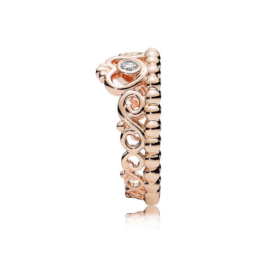 rose gold pandora ring